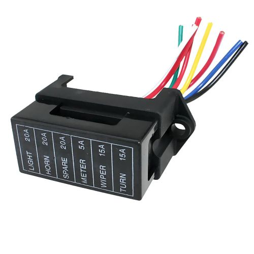 small resolution of details about car trailers 6 way circuit middle sized blade fuse box distribution block
