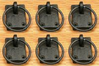 Set of 6 Cast Iron Ring Antique-Style Drawer Cabinet Pulls ...