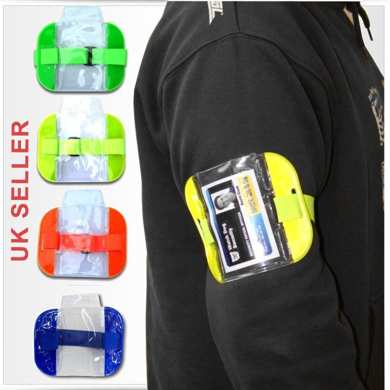 High Visibility Security Arm Band Id Badge Card Holder Sia