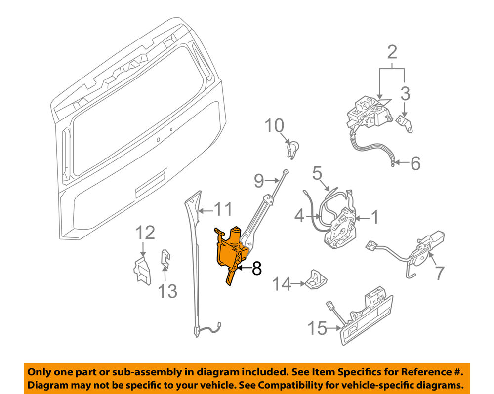 hight resolution of nissan oem liftgate tail tailgate trunk motor 825809ge0a ebay