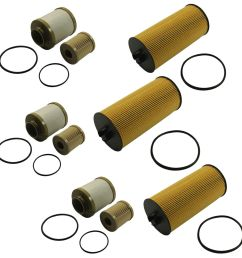 details about diesel fuel oil filter replacement 3 of each for ford turbo 6 0l fl2016 fd4616 [ 1000 x 1000 Pixel ]