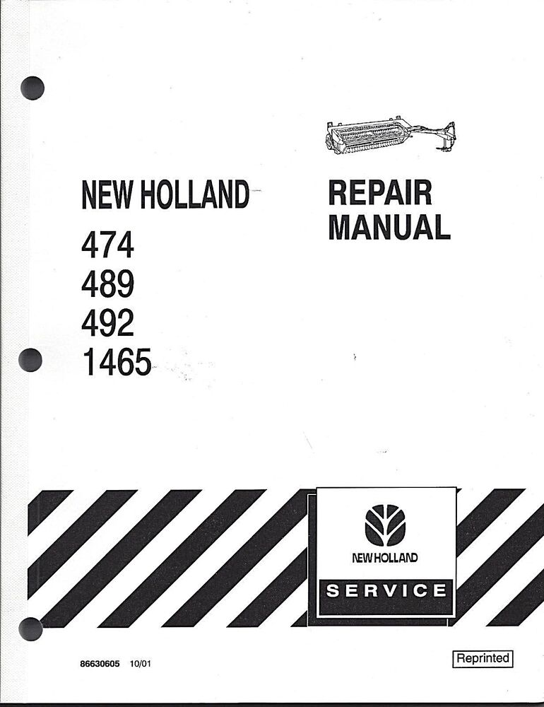 New Holland 474,489,492,1465 HayBine Repair Manual
