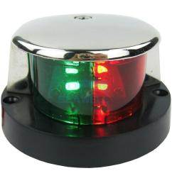 details about stainless bi color combination green red led navigation bow running light [ 1000 x 1000 Pixel ]