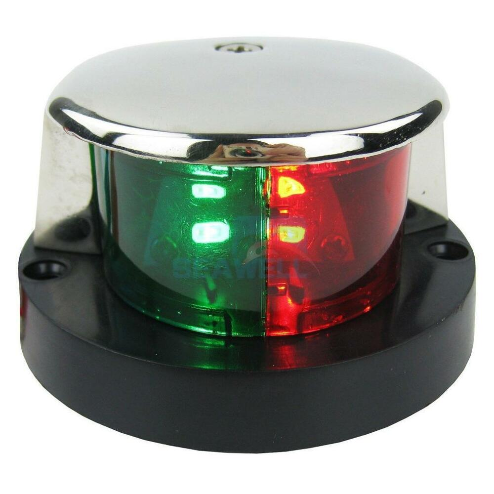 medium resolution of details about stainless bi color combination green red led navigation bow running light