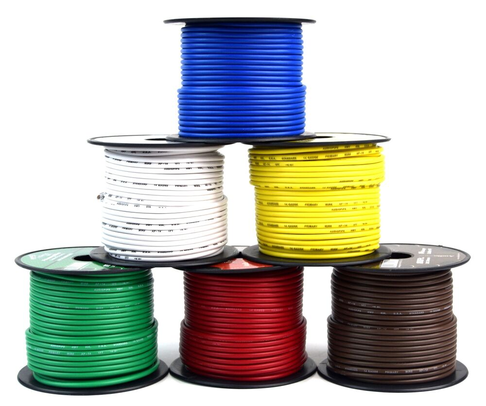 medium resolution of details about trailer light cable wiring for harness 100 feet spools 14 gauge 6 wire 6 colors