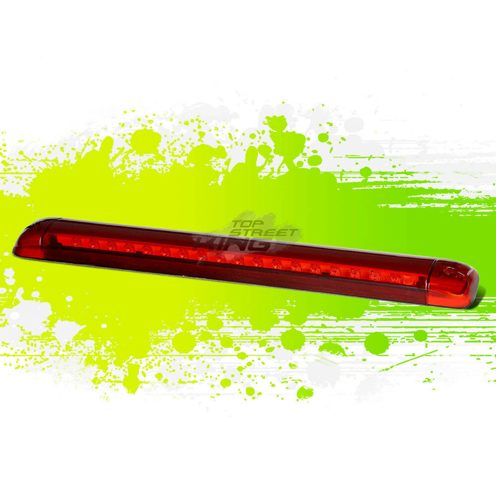 medium resolution of details about for 92 04 chevy s 10 suburban red housing roof 3rd high mount brake led light