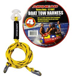 airhead heavy duty 12ft boat tow rope harness 4 rider ski tube towable wakeboard 737826034239 ebay [ 1000 x 1000 Pixel ]
