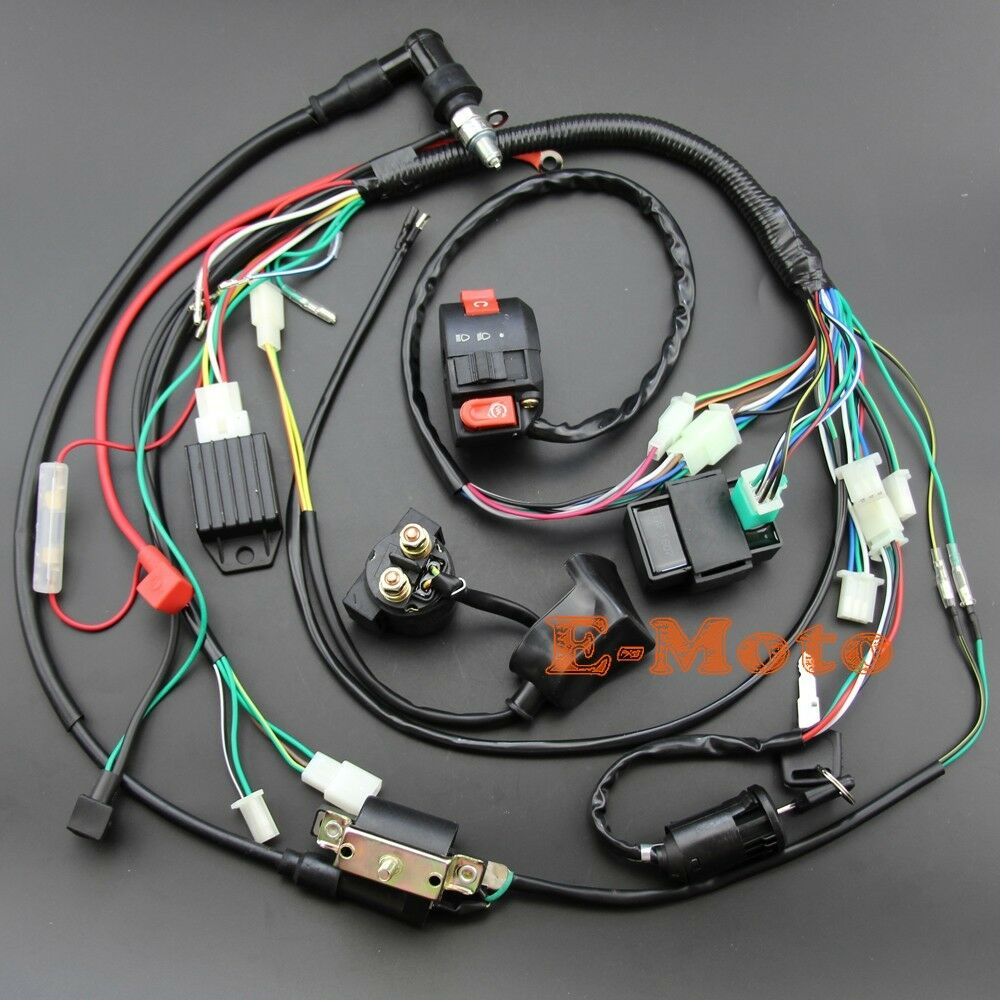 medium resolution of details about full electrics wiring harness cdi 50 70 90 110 125cc atv quad bike buggy gokart