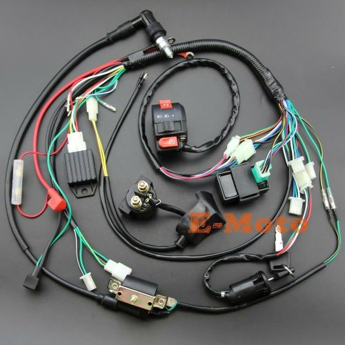 small resolution of details about full electrics wiring harness cdi 50 70 90 110 125cc atv quad bike buggy gokart