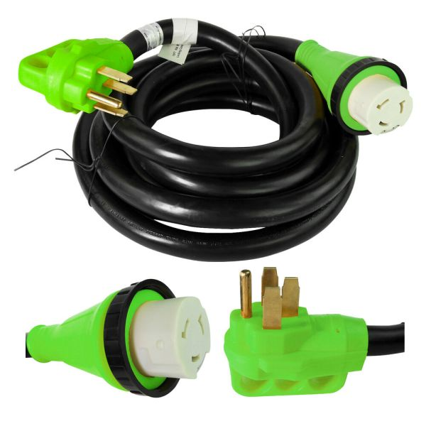15 Foot 50 Amp Rv Extension Cord Power Supply Cable Trailer Motorhome Camper