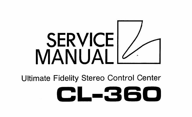 LUXMAN CL-360 STEREO CONTROL CENTER SERVICE MANUAL INC