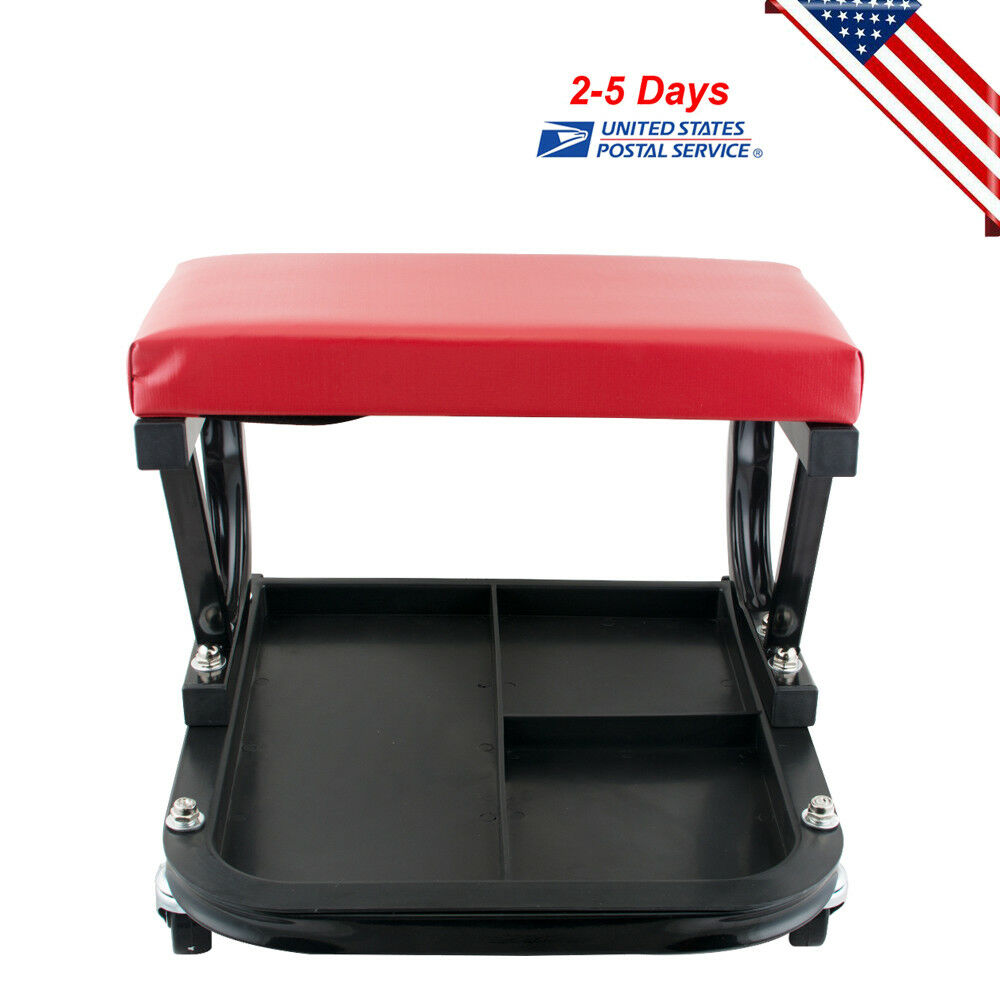 Chair Repair Shop Details About Rolling Creeper Seat Mechanic Stool Chair Repair Tools Tray Shop Auto Car Garage