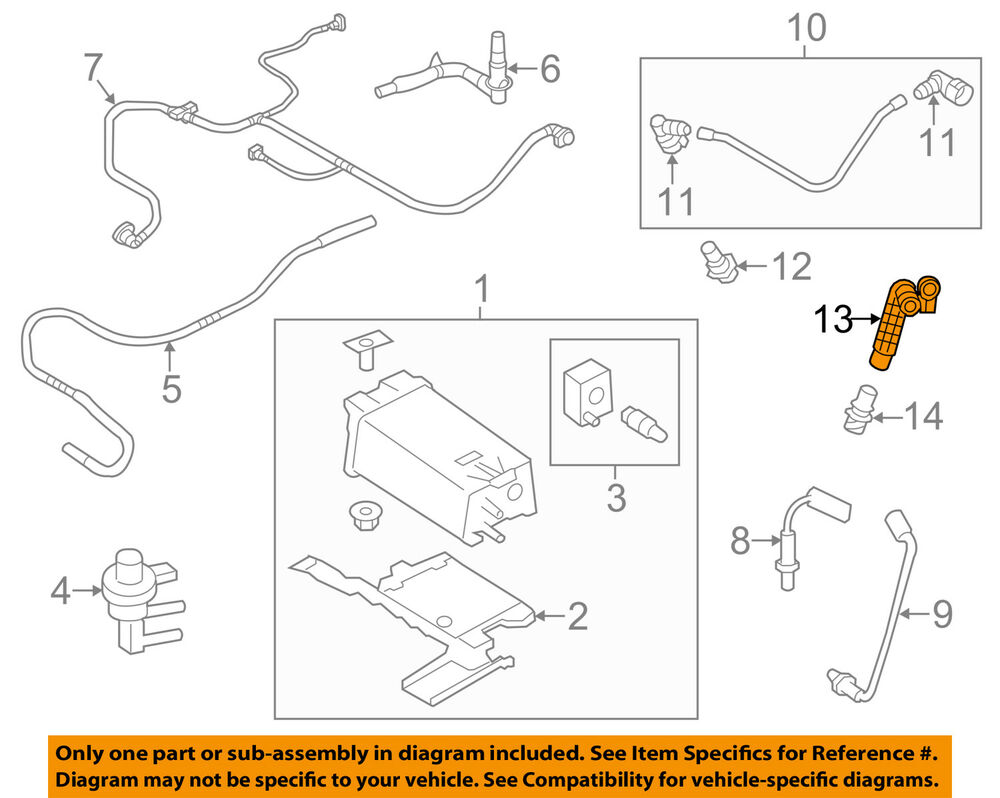 hight resolution of details about ford oem emission pcv vacuum hose at4z6a664b