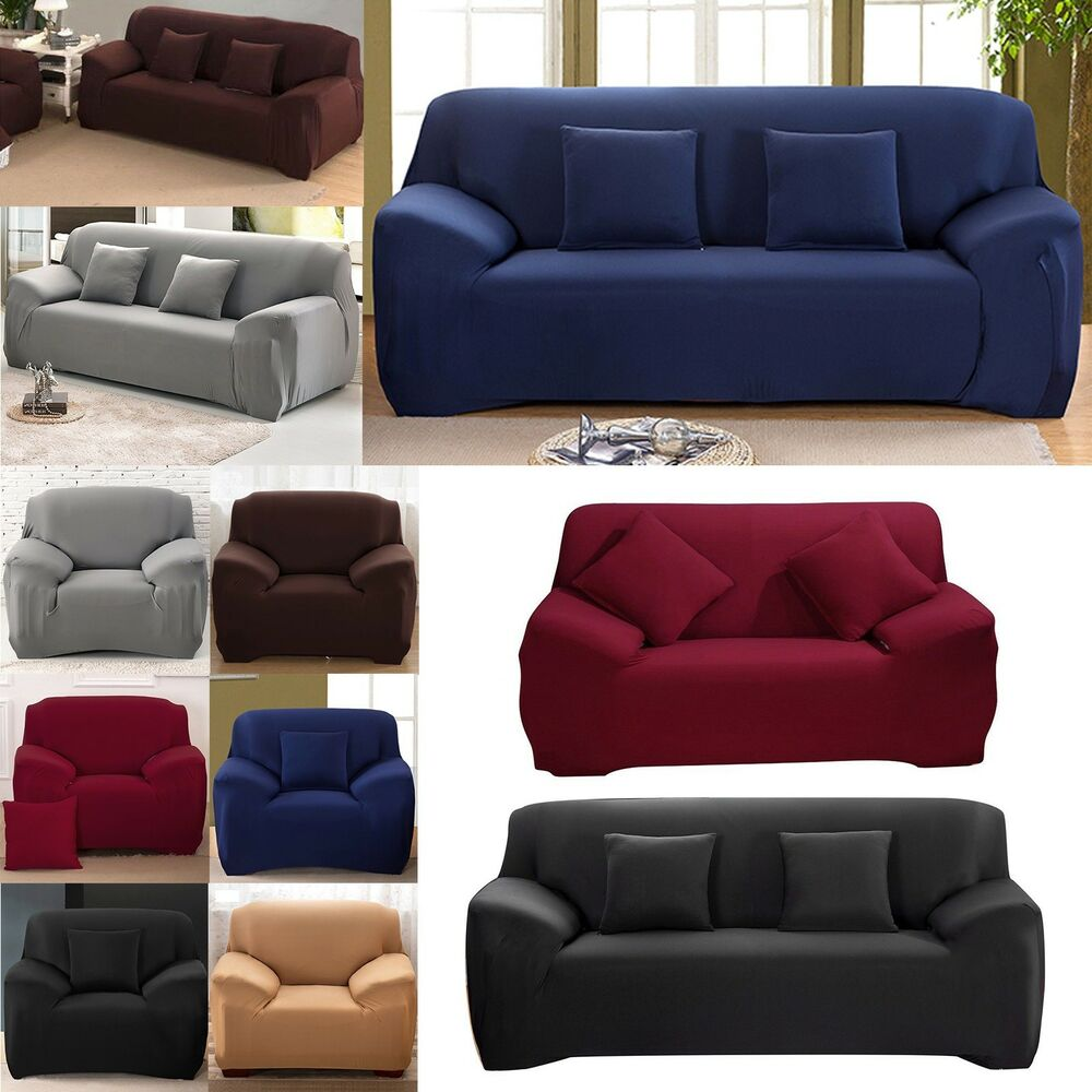 1 2 3 Seater Easy Sofa Soft Couch Slipcover Stretch Covers