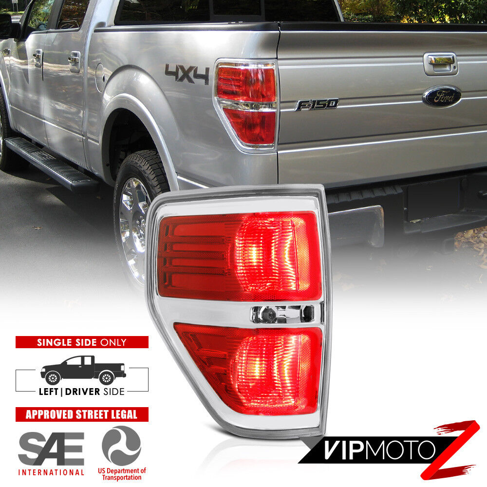 medium resolution of details about 09 14 ford f150 oe style red chrome bezel replacement tail light left driver