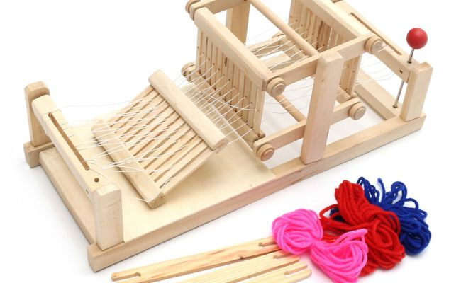 Chinese Traditional Wooden Table Weaving Loom Knitting