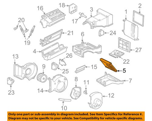 small resolution of gm oem hvac heater core 89019173 ebay gm hvac diagrams