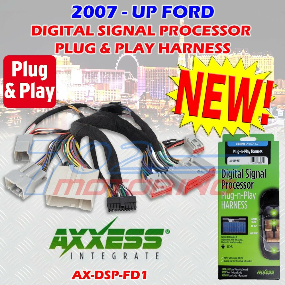 hight resolution of 2007 up select ford ax dsp fd1 plug n play t harness for use with ax dsp ebay