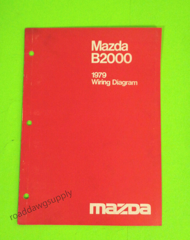hight resolution of details about 1979 mazda b2000 wiring diagrams service shop manual