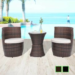 2 Chairs And Table Rattan Wedding Chair Covers Northern Ireland Vidaxl Patio Garden Furniture Set Poly Details About Wicker Colors