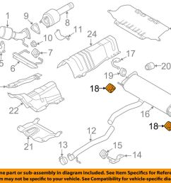 details about land rover oem 15 18 discovery sport exhaust muffler w tpipe insulator lr017444 [ 1000 x 798 Pixel ]