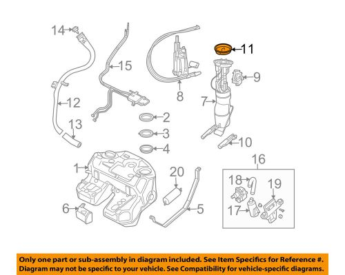 small resolution of details about land rover oem 03 09 range rover 4 4l v8 fuel system fuel pump seal wgc000020