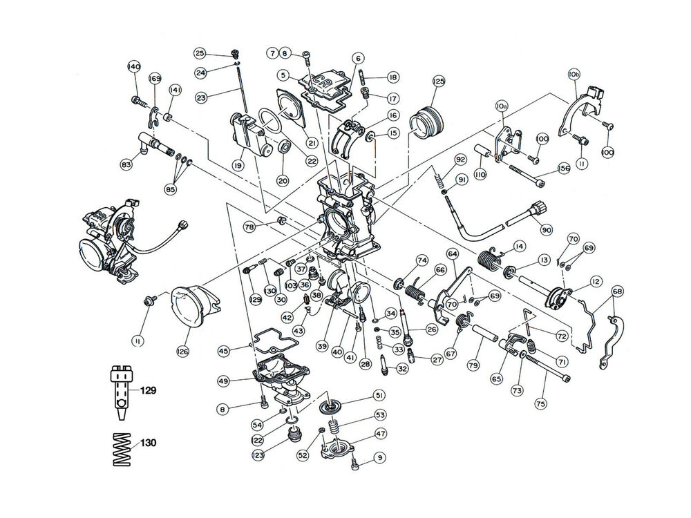 Diagram Part # 23 / KTM 400 520 Keihin FCR Carburetor