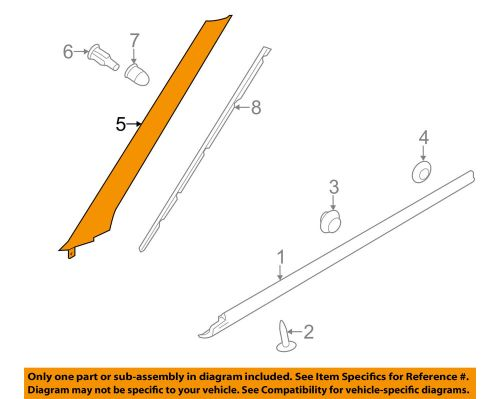 small resolution of details about land rover oem 12 18 range rover evoque exterior pillar molding left lr077218