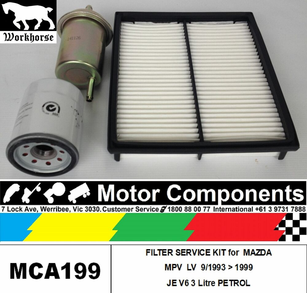 hight resolution of details about filter kit oil air fuel for mazda mpv lv je v6 3l petrol 93 1999