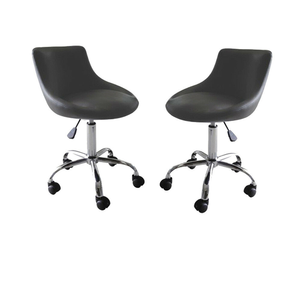 stool chair on wheels white spandex covers bulk rolling adjustable swivel w massage tattoo details about mars set of 2