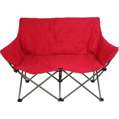 2 Person Camping Chair French Canopy Ozark Trail Padded Loveseat Red Folding Couple Details About Furniture