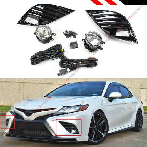 small resolution of details about for 2018 19 toyota camry se xse fog lamp bezel cover clear fog light lens kit