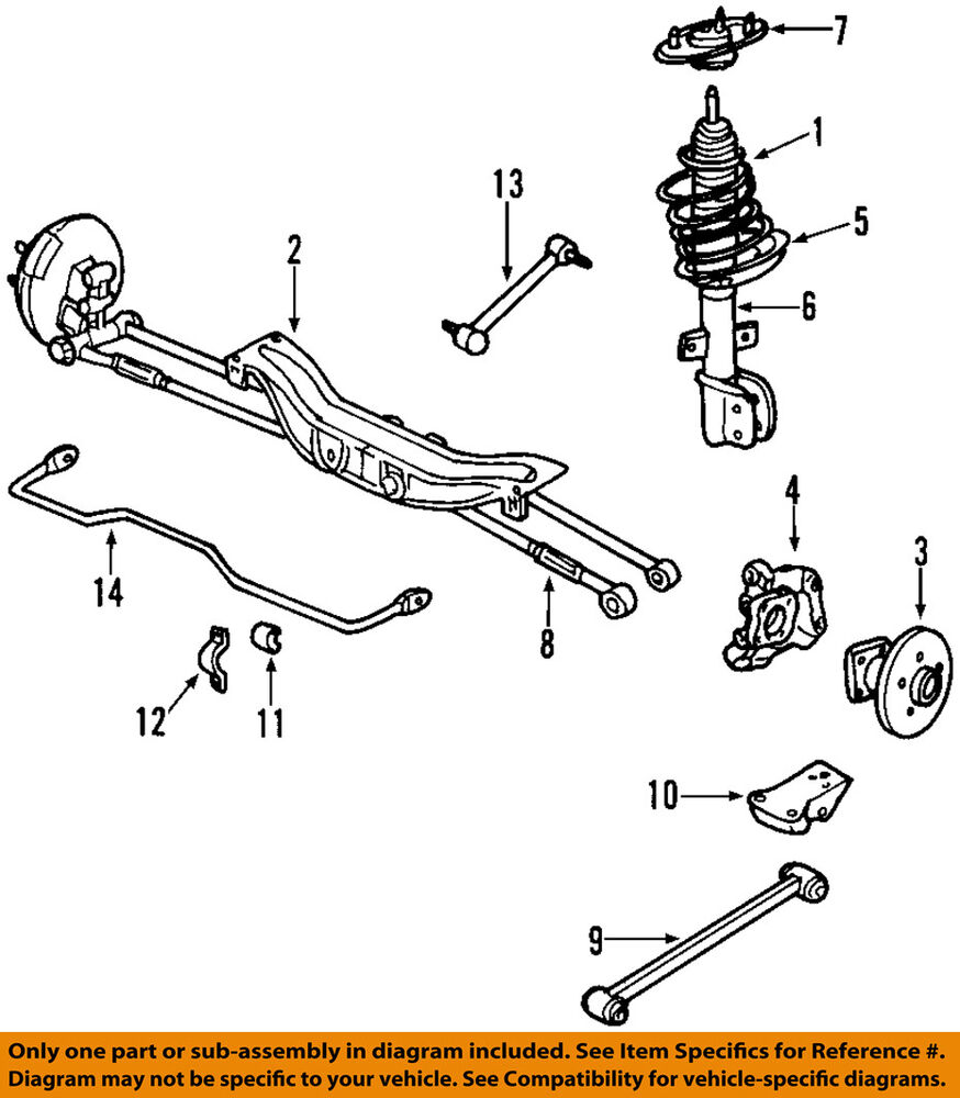 hight resolution of details about chevrolet gm oem 12 13 impala rear suspension strut 23269417