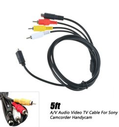 details about av a v audio video tv cable cord lead for sony handycam dcr sx85 v e l sx85 b r [ 1000 x 1000 Pixel ]
