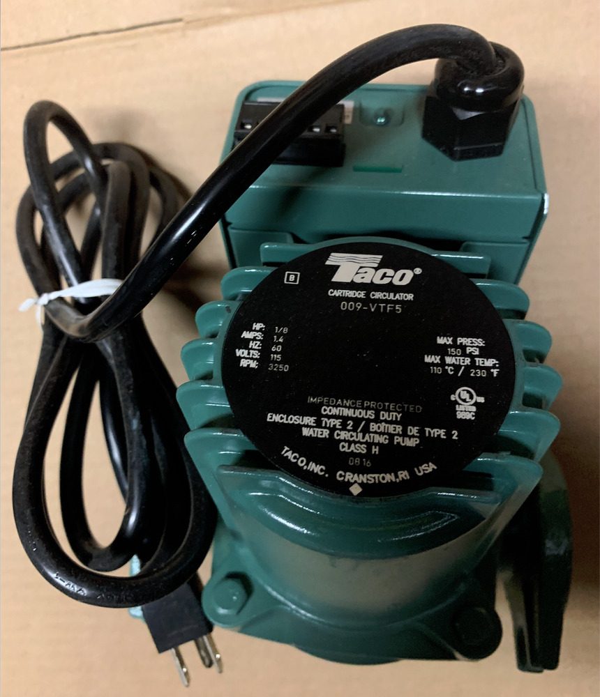hight resolution of new taco 009 vtf5 variable speed solar control cartridge circulator pump ebay