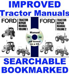 details about ford 2600 3600 4100 4600 5600 6600 6700 7600 7700 tractor service manuals 3 vols [ 1000 x 1000 Pixel ]