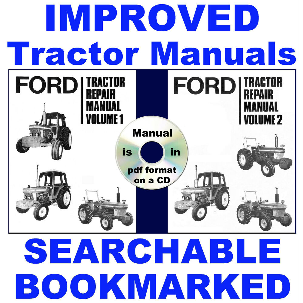 hight resolution of details about ford 2600 3600 4100 4600 5600 6600 6700 7600 7700 tractor service manuals 3 vols