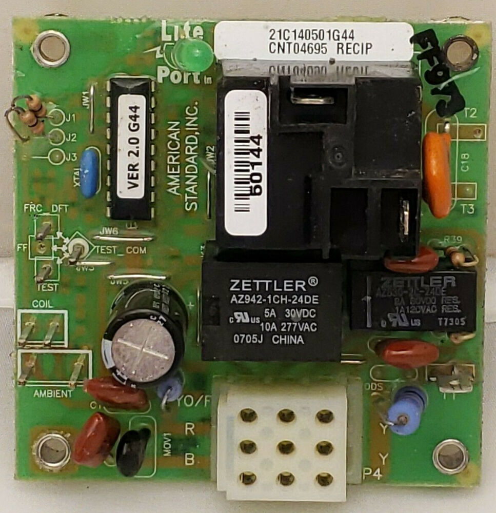 hight resolution of details about trane american standard defrost control board 21c140501g44 cnt04695 recip