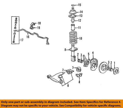 small resolution of details about mitsubishi oem 02 07 lancer stabilizer sway bar front link 4056a161