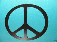 "PEACE SIGN METAL WALL DECOR ART HOME 12""DIAMETER SYMBOL 