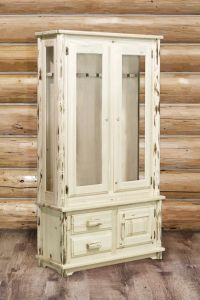 Rustic Gun Cabinets Amish Pine Gun Cabinet Locking Rifle
