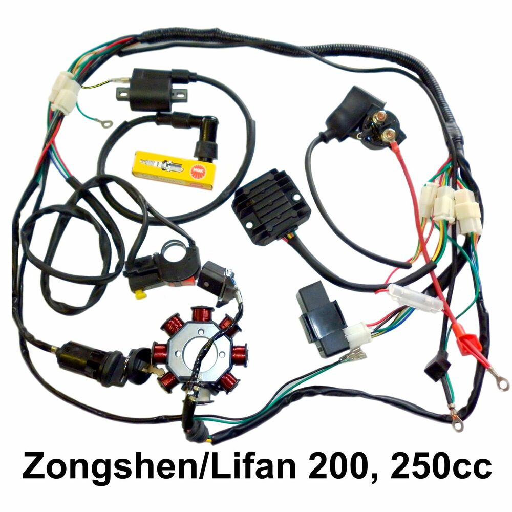 250cc chinese atv wire harness
