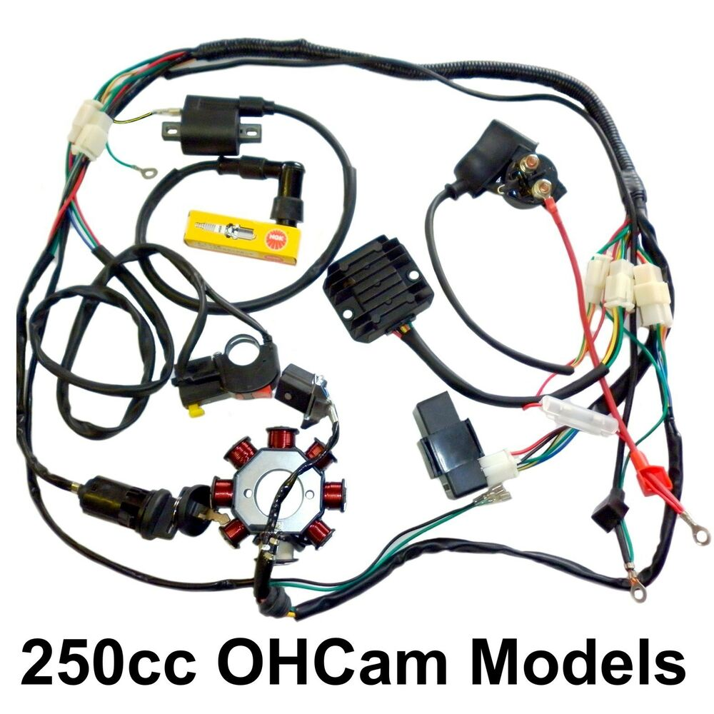 medium resolution of 250 dirt bike electrics harness magneto cdi coil zongshen loncin ducar atomik ebay