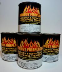 Fireplace Paint - water based, heat resistant, brush paint ...