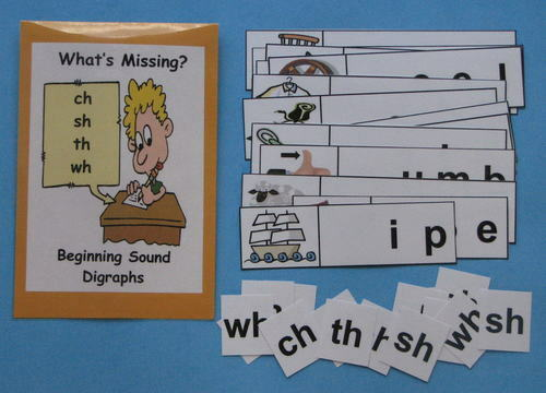 Teacher Made Literacy Center Resource Game Digraphs Ch Sh