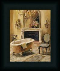 French Bath I Marilyn Hageman Bathroom Spa Framed Art