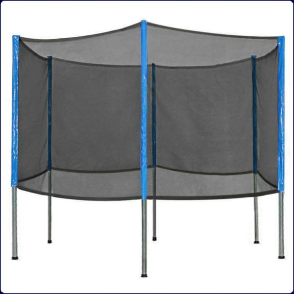 Six Poles 15'ft Trampoline Replacement Safety Net Enclosure 6 Combo