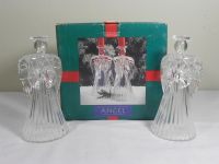 Pair of 24% Lead Crystal Angel Candle Holders. New in Box ...