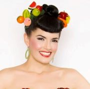 fruit hair clips - carmen 40s