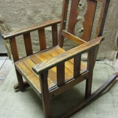 Toddler Wooden Rocking Chair Vintage Bentwood Chairs Childs > Antique Old Stool Parlor Nice 7169 | Ebay